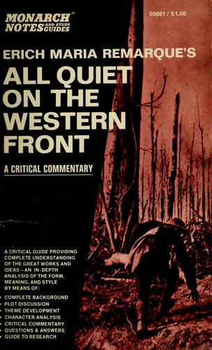 an analysis of all quiet on the western fron by erich maria remarque Immediately download the all quiet on the western front all quiet on the western front - erich maria remarque literary analysis - all quiet on the western front.